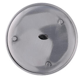 Aluminium candle holder plate with satin finish 5 1/2 in s3