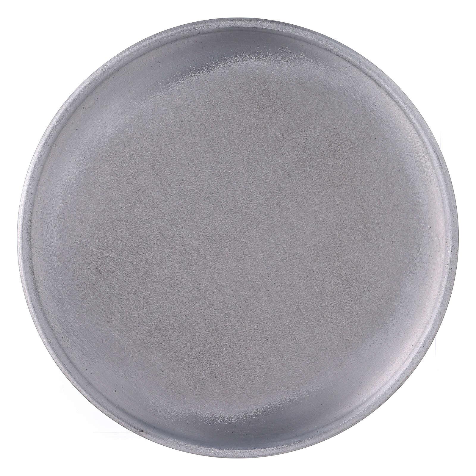 Portavela plato aluminio 17 cm pies 3