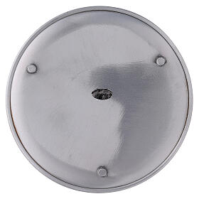 Portavela plato aluminio 17 cm pies s3