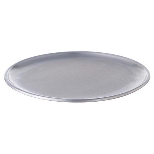 Portavela plato aluminio 17 cm pies 1