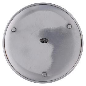 Portacandela piatto alluminio 17 cm piedini s3