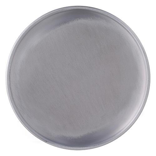 Portacandela piatto alluminio 17 cm piedini 2