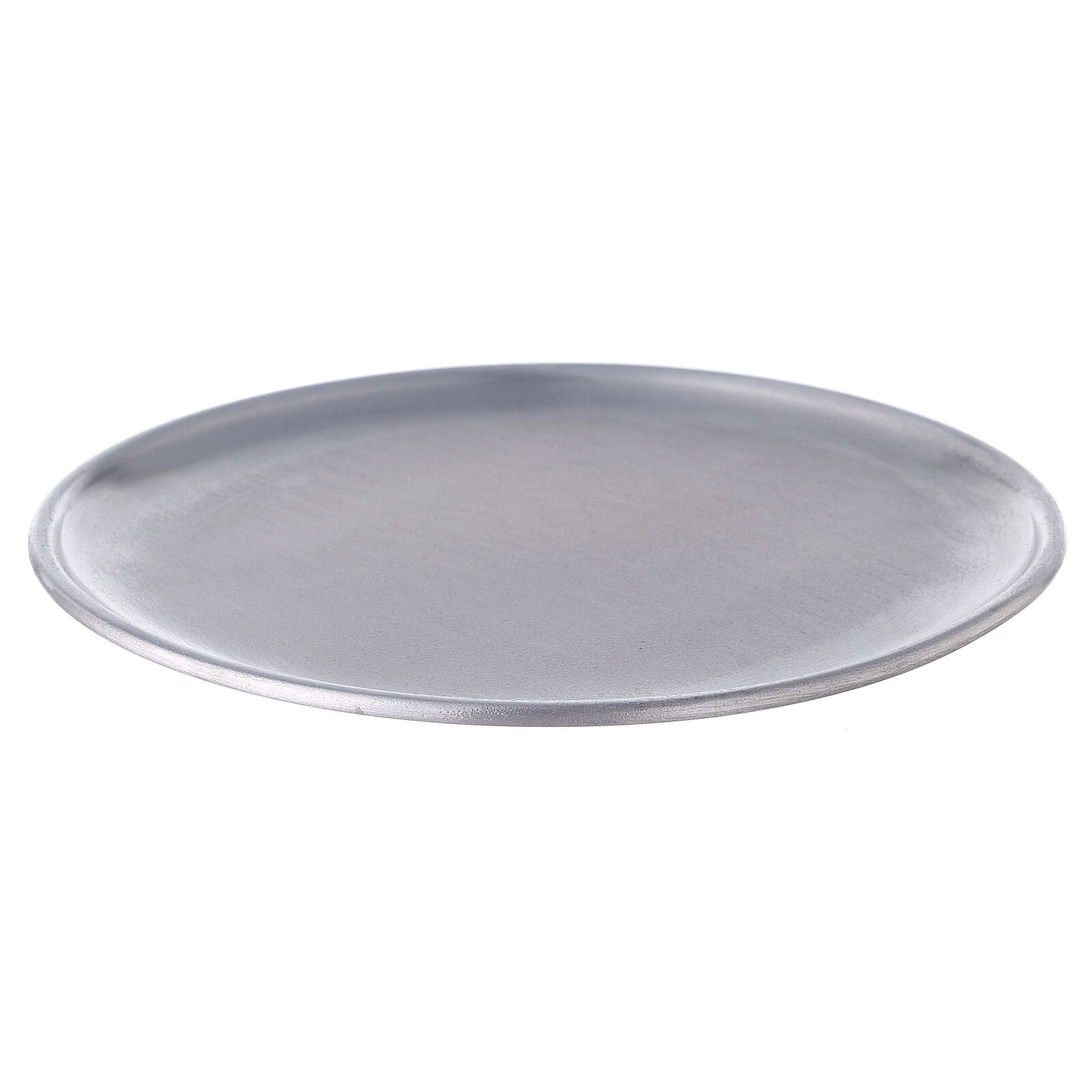 Aluminium candle holder plate with feet 6 3/4 in 3