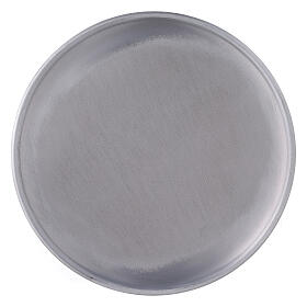 Aluminium candle holder plate with feet 6 3/4 in s2