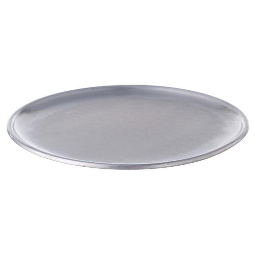 Aluminium candle holder plate with feet 6 3/4 in 1