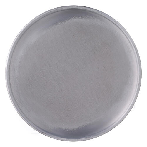 Aluminium candle holder plate with feet 6 3/4 in 2