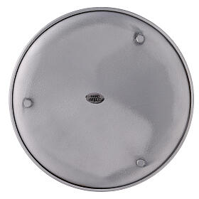 Portavela aluminio cepillado 19 cm s3