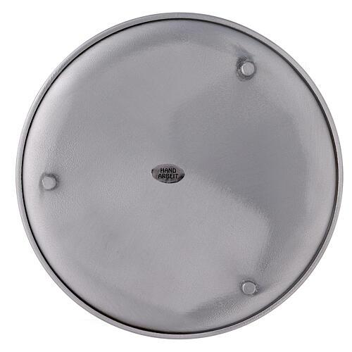 Portavela aluminio cepillado 19 cm 3