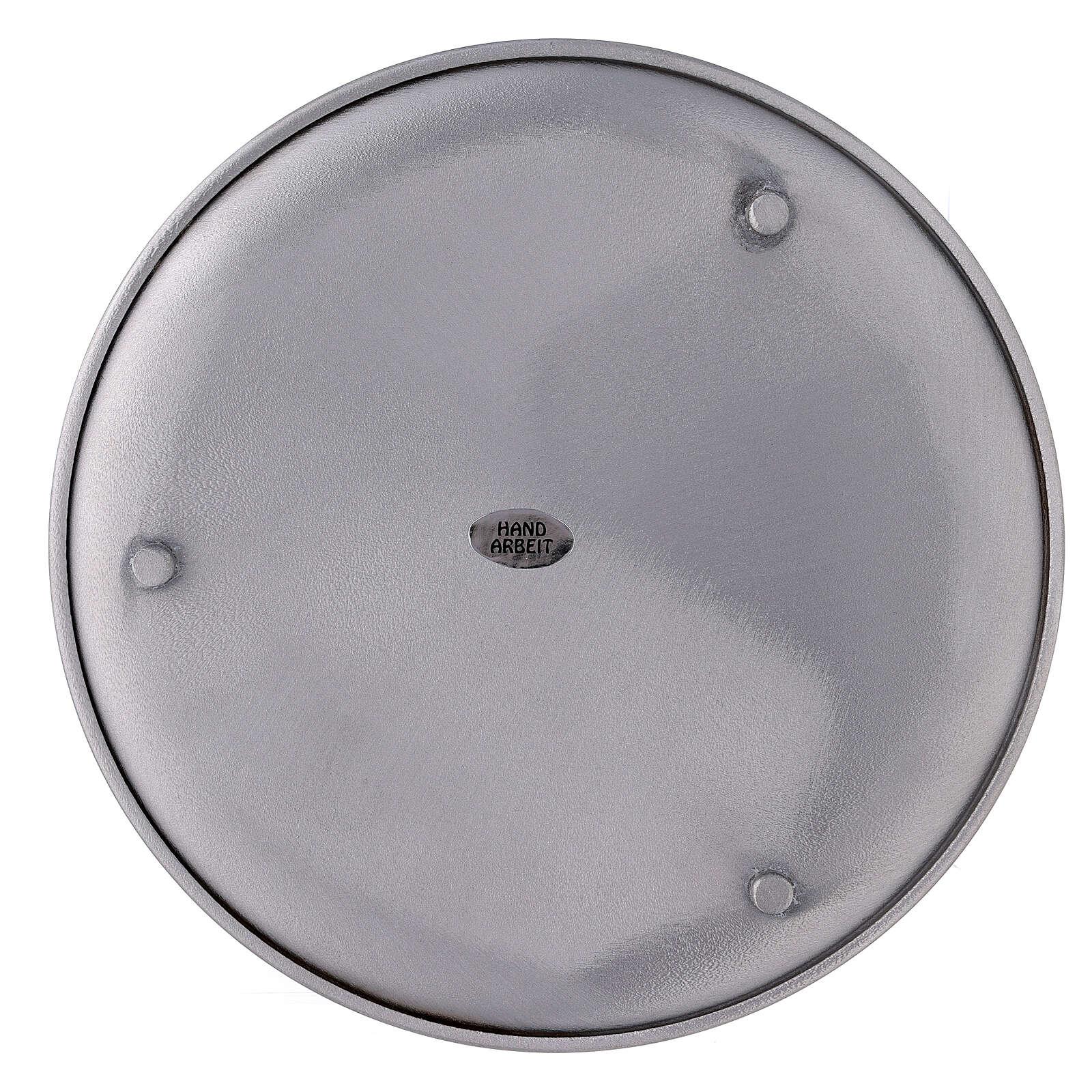Bougeoir aluminium brossé 19 cm 3