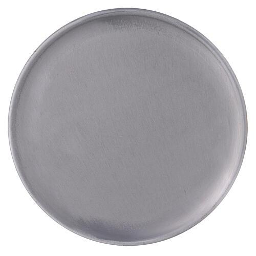 Bougeoir aluminium brossé 19 cm 2