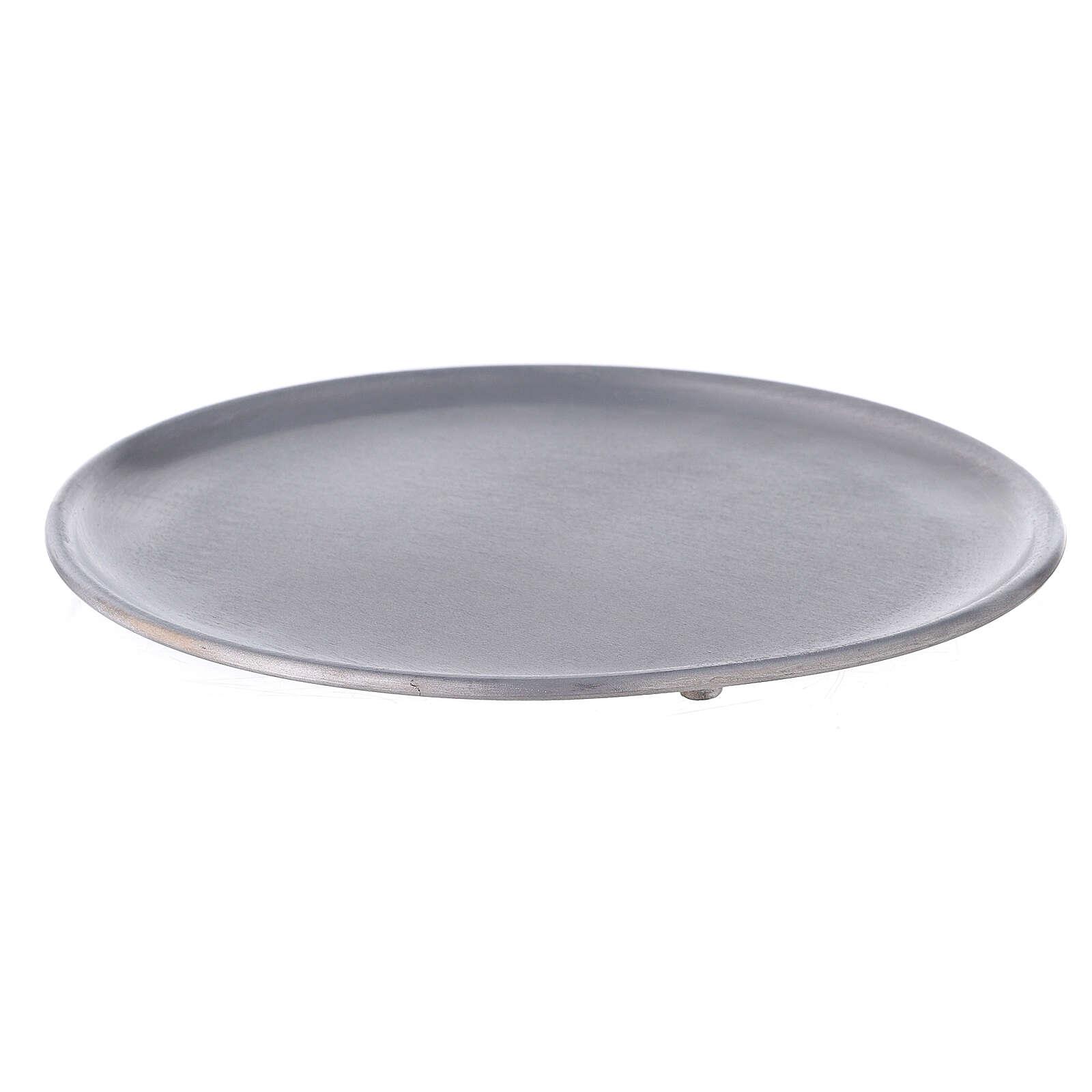 Portacandela alluminio spazzolato 19 cm 3