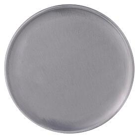 Portacandela alluminio spazzolato 19 cm s2