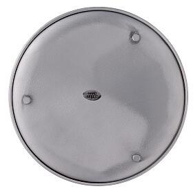 Portacandela alluminio spazzolato 19 cm s3