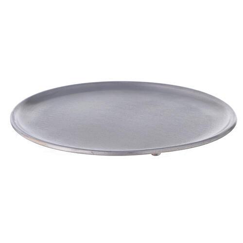 Portacandela alluminio spazzolato 19 cm 1