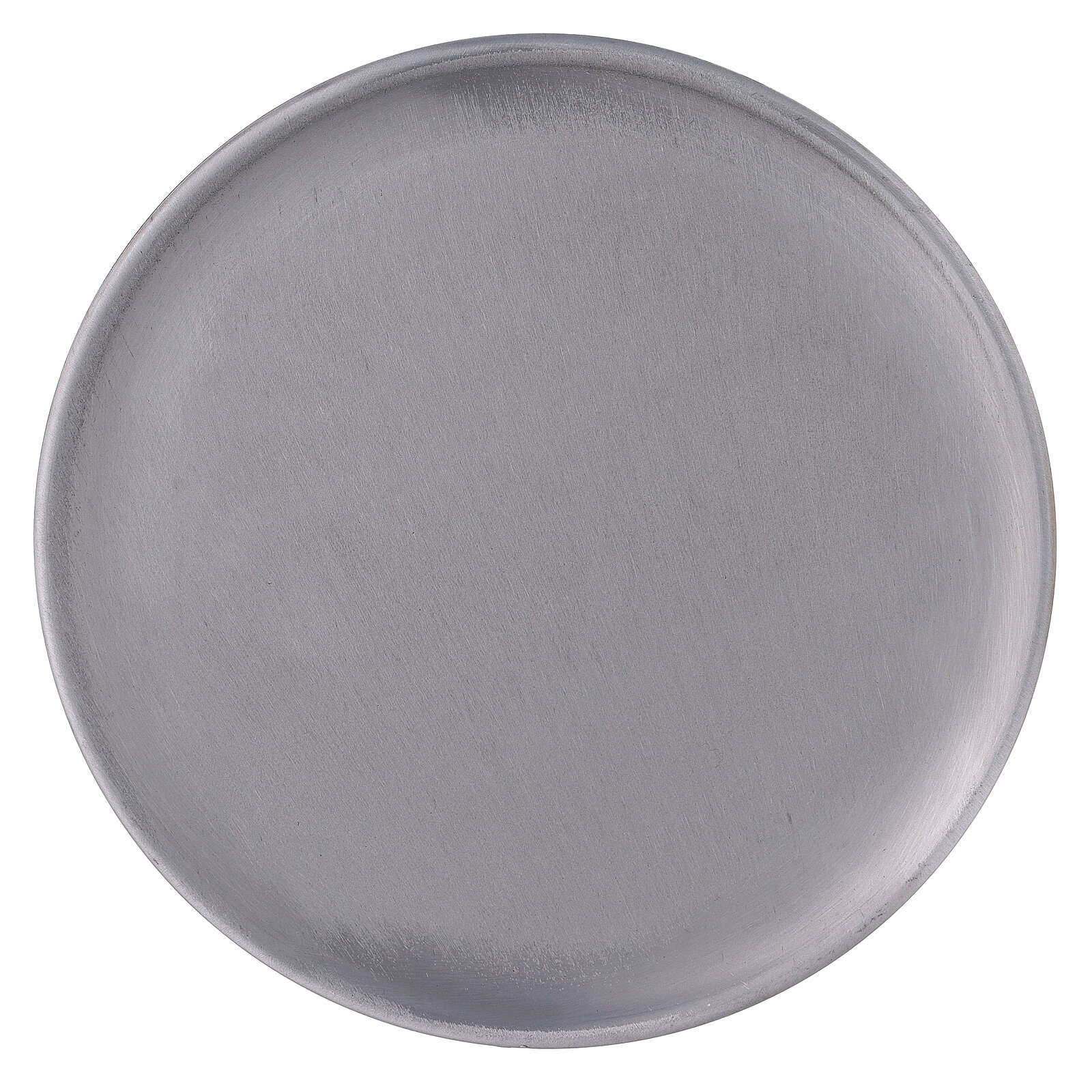 Brushed aluminium candle holder 7 1/2 in 3