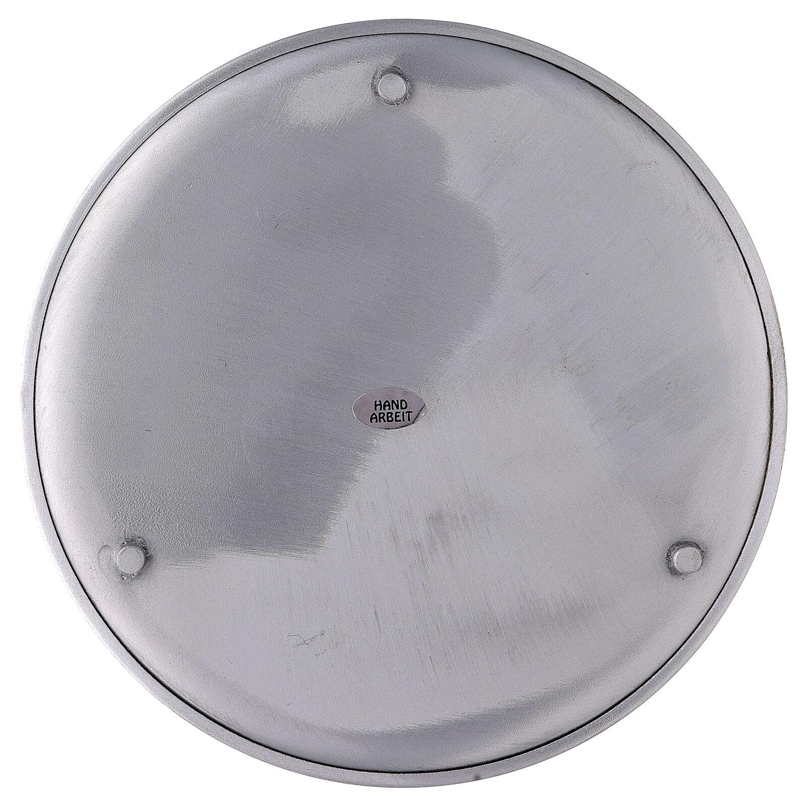 Portavela pies aluminio satinado 21 cm 3