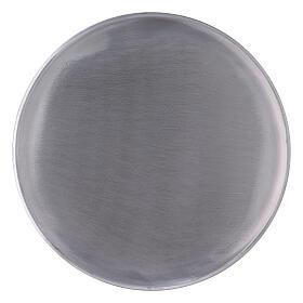 Portavela pies aluminio satinado 21 cm s1