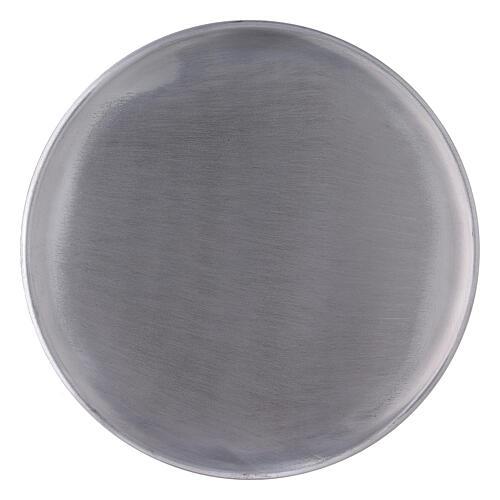 Portavela pies aluminio satinado 21 cm 1