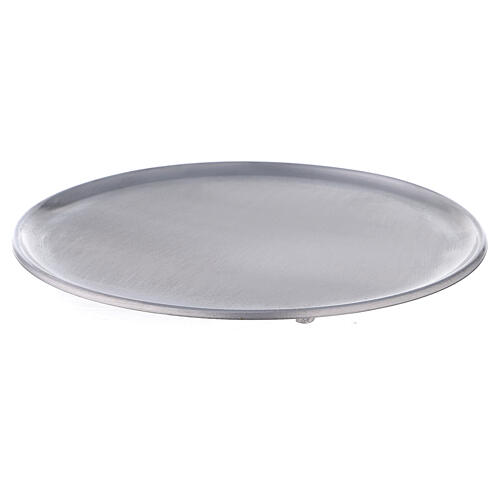 Portavela pies aluminio satinado 21 cm 2