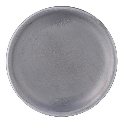 Portavela bordes elevados aluminio 10 cm 1