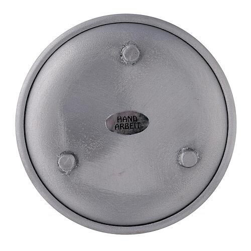 Portavela bordes elevados aluminio 10 cm 2