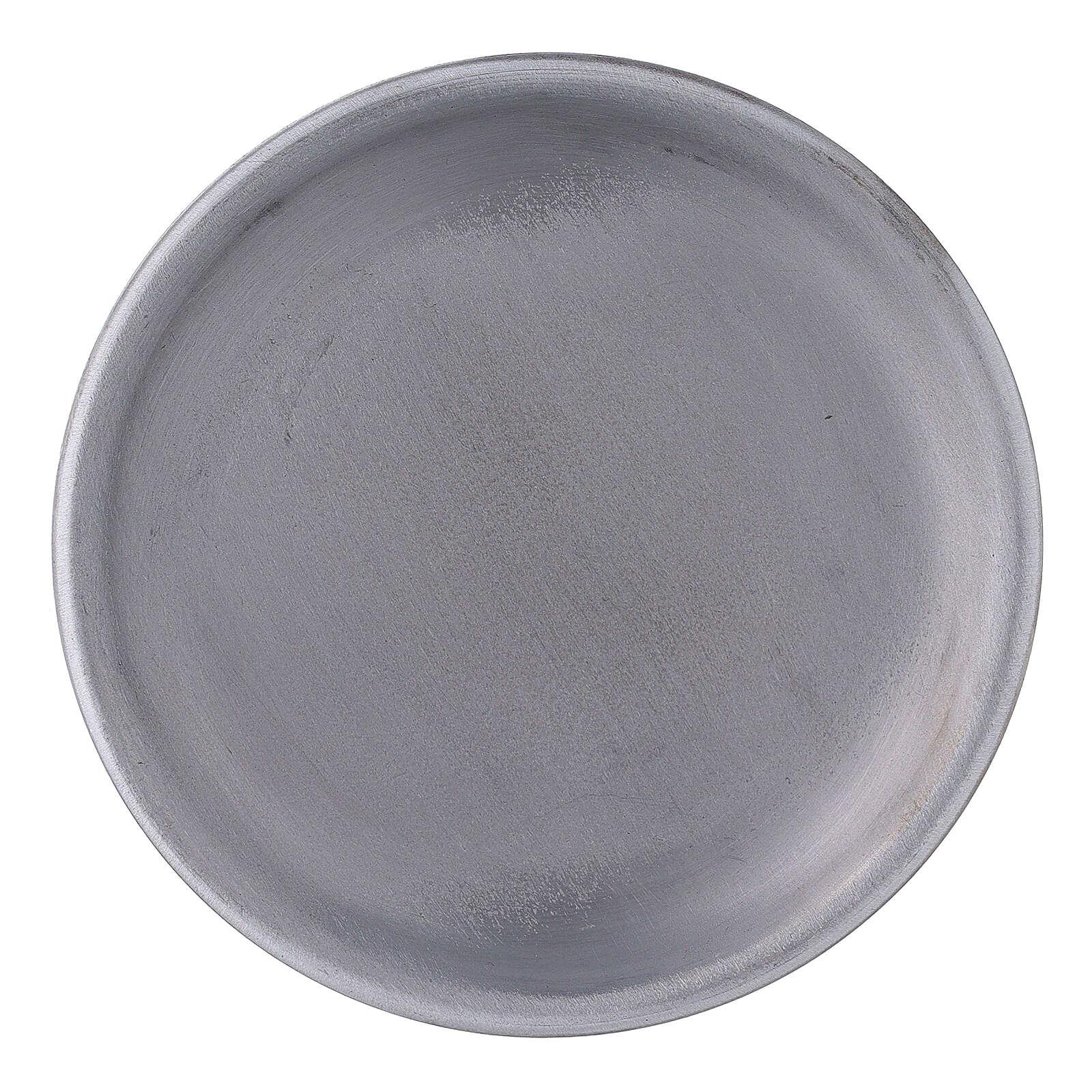 Portacandela bordi rialzati alluminio 10 cm 3