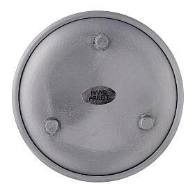 Portacandela bordi rialzati alluminio 10 cm s2