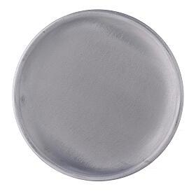 Piatto portacandela 12 cm alluminio opaco s2