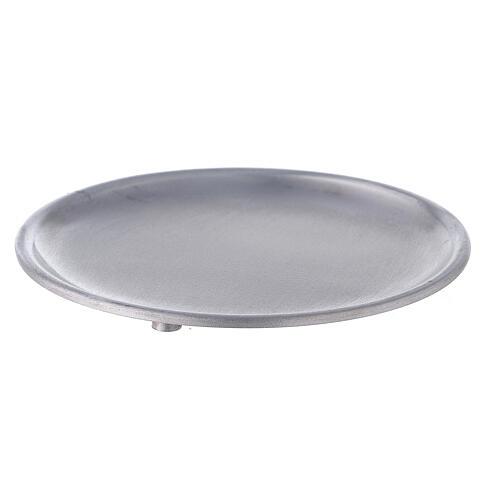 Piatto portacandela 12 cm alluminio opaco 1