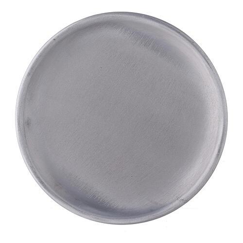 Piatto portacandela 12 cm alluminio opaco 2