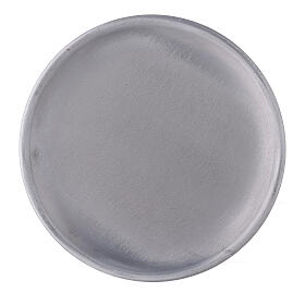 Mat aluminium candle holder plate 4 3/4 in s2