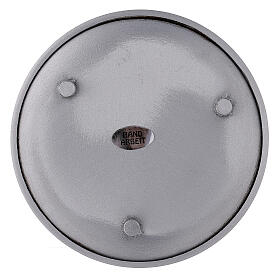 Mat aluminium candle holder plate 4 3/4 in s3