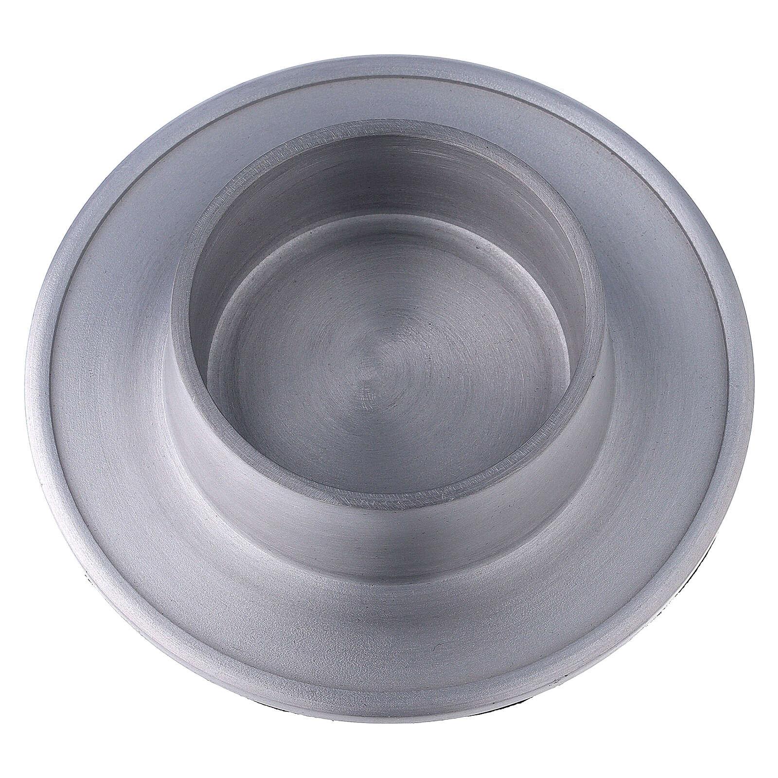 Base portavela 7 cm aluminio satinado 4