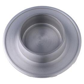 Base portavela 7 cm aluminio satinado s2