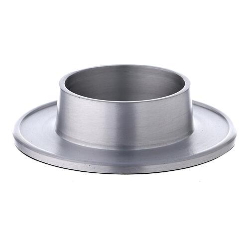 Base portacandela 7 cm alluminio satinato 1