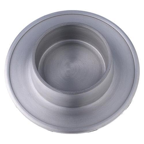 Base portacandela 7 cm alluminio satinato 2