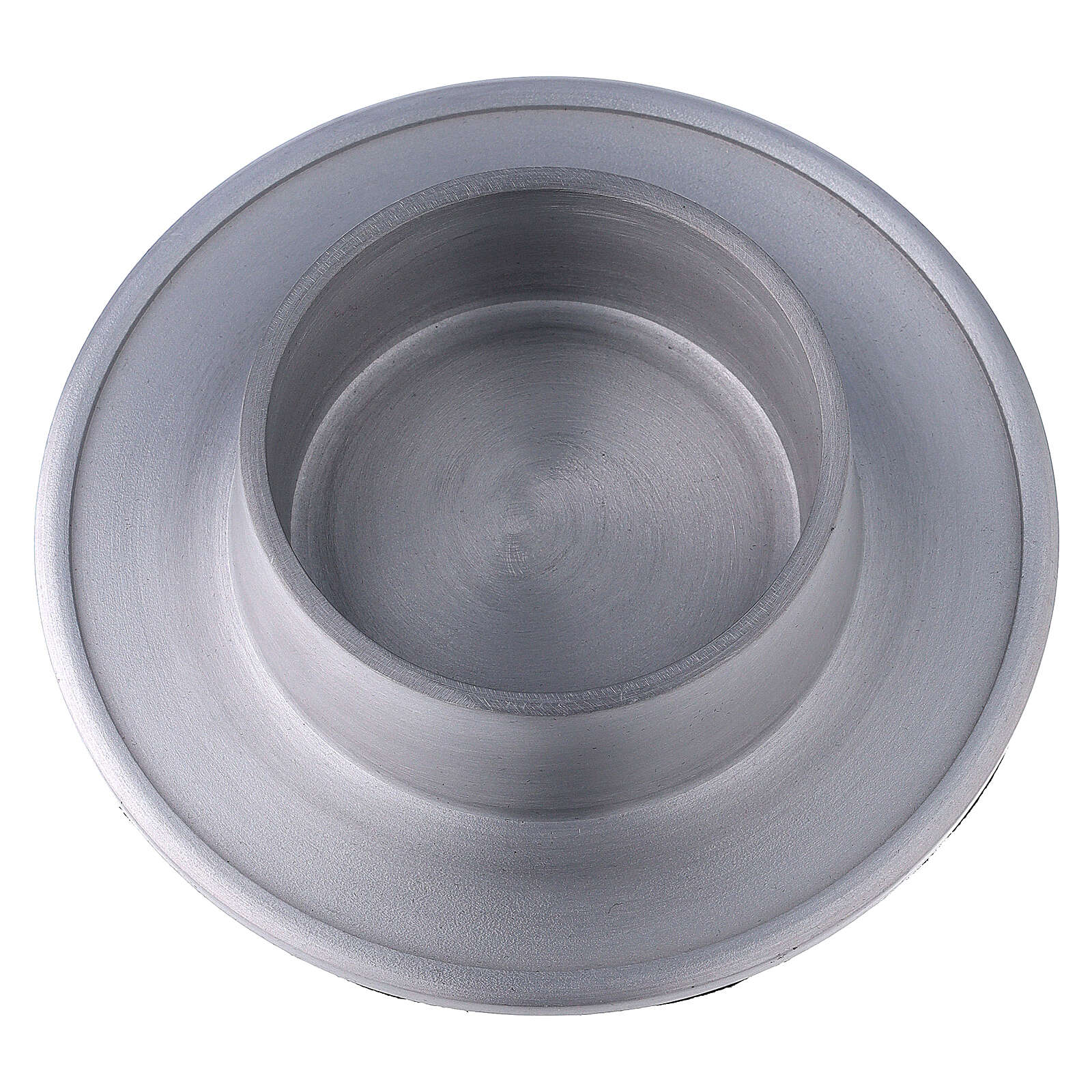Aluminium candle holder with satin finish 2 3/4 in 4