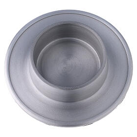 Aluminium candle holder with satin finish 2 3/4 in s2