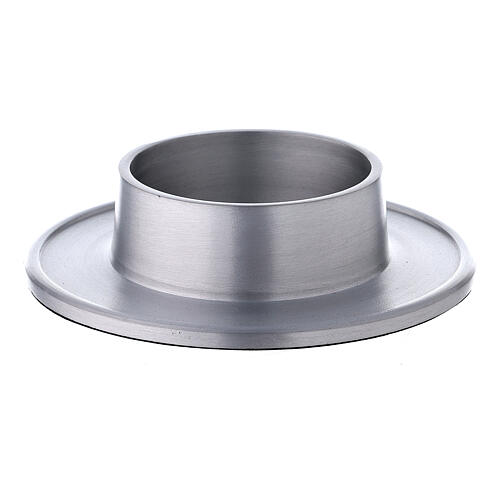 Aluminium candle holder with satin finish 2 3/4 in 1