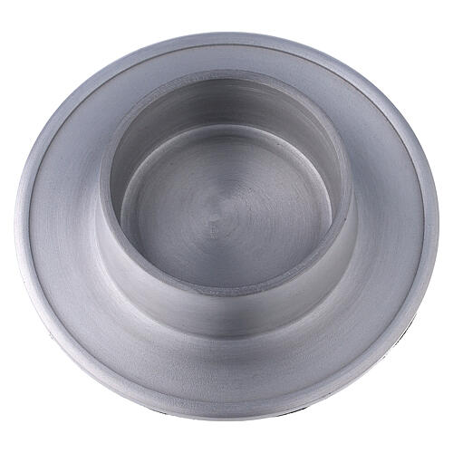 Aluminium candle holder with satin finish 2 3/4 in 2