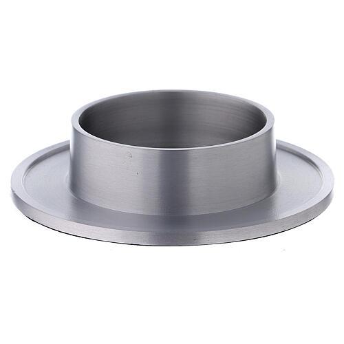 Bougeoir aluminium satiné bords 8 cm 1