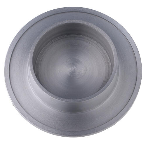 Bougeoir aluminium satiné bords 8 cm 2
