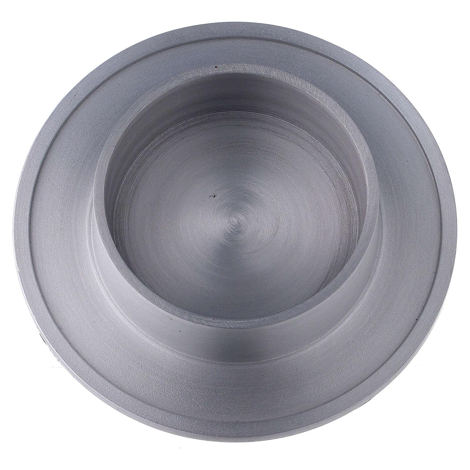 Portacandela alluminio satinato bordi 8 cm 4