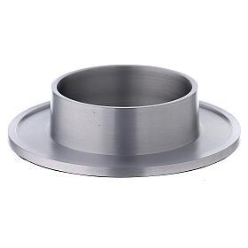 Portacandela alluminio satinato bordi 8 cm s1