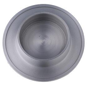 Portacandela alluminio satinato bordi 8 cm s2