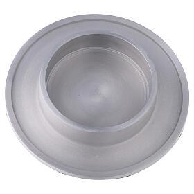 Bougeoir aluminium satiné rond 10 cm s2