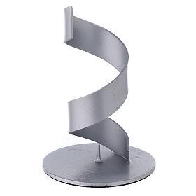 Portavela espiral aluminio cepillado 4 cm s1