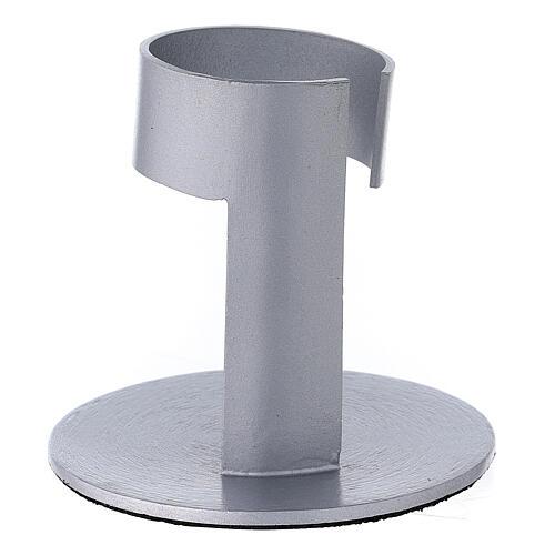 Porta-vela faixa alumínio escovado 4 cm 3
