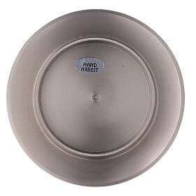 Bougeoir circulaire laiton nickelé satiné 8 cm s3