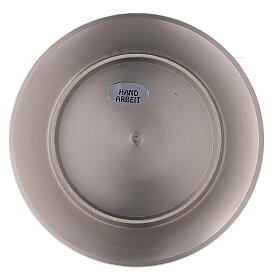 Circular candle holder of nickel-plated brass with satin finish 3 in s3